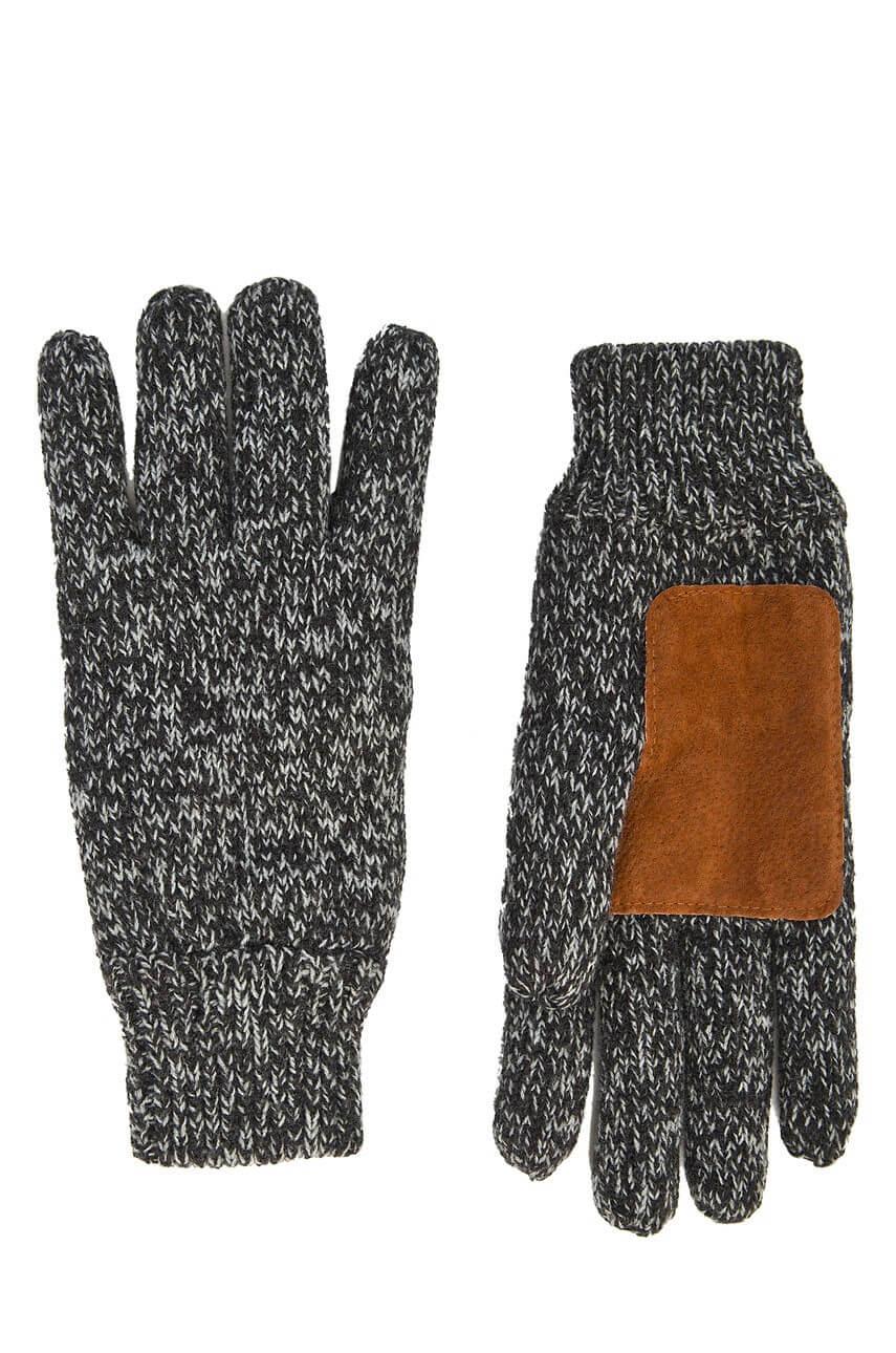 Ciemne szare rękawiczki