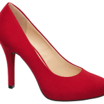 Czerwone buty na szpilce