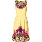 kolorowa sukienka z lat 50
