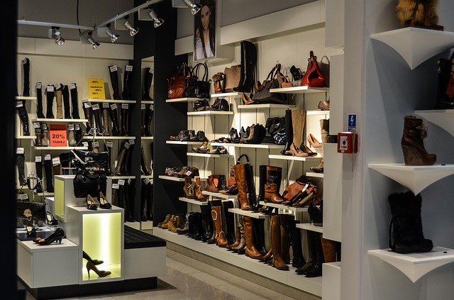 Stacjonarny sklep z butami