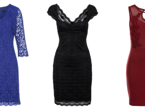 Kolaż dopasowanych sukienek