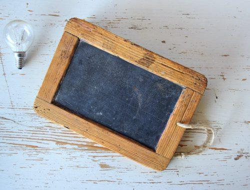 Tabliczka w drewnianej ramce